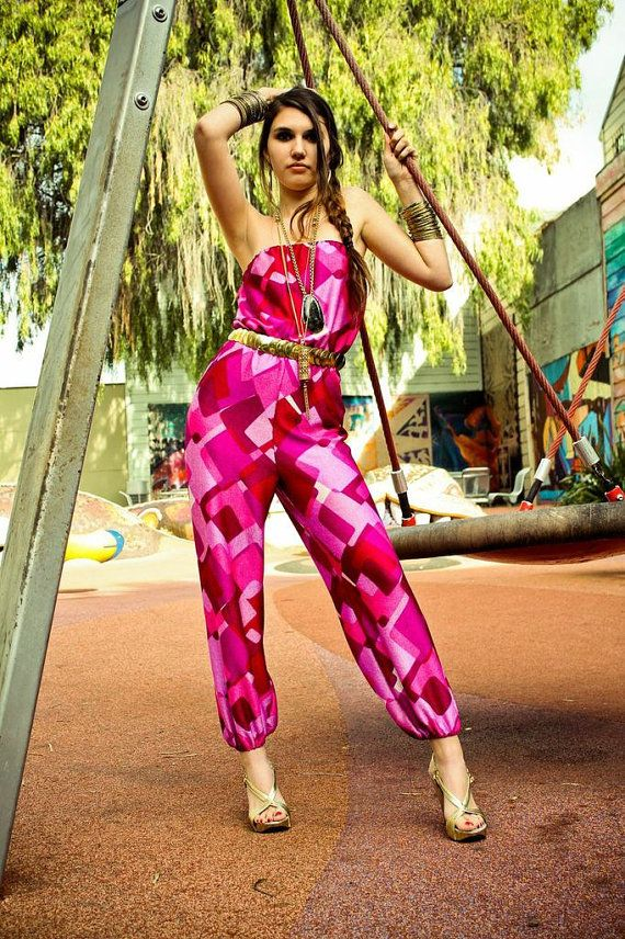 The It girl Jumpsuit by Tuc Luong - Strapless Jumpsuit Pantsuit Playsuit Romper Onesi Genie Harem Jumper