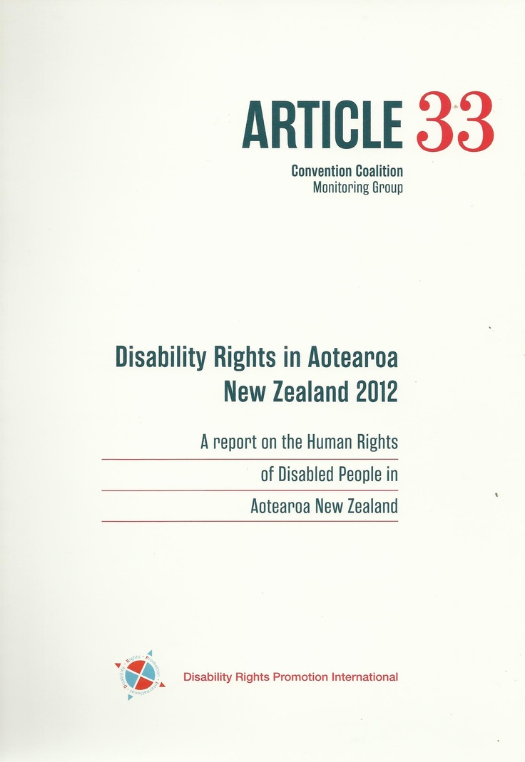 In New Zealand a group of disabled people's organisations (DPOs) are monitoring the implementation of the Disability Convention (UN Convention on the Rights of Persons with Disabilities-CRPD). This, the second report outlines the major issues. An important read for social justice supporters. It's on the website www.dpa.org.nz/publications