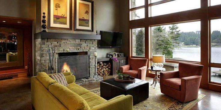 Lake home interior design ideas waterfront lake house for 927 interior decoration l l c