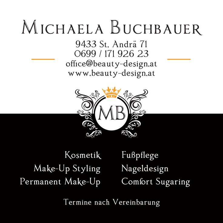 Square Business Card, Back (Beauty Design, www.beauty-design.at)