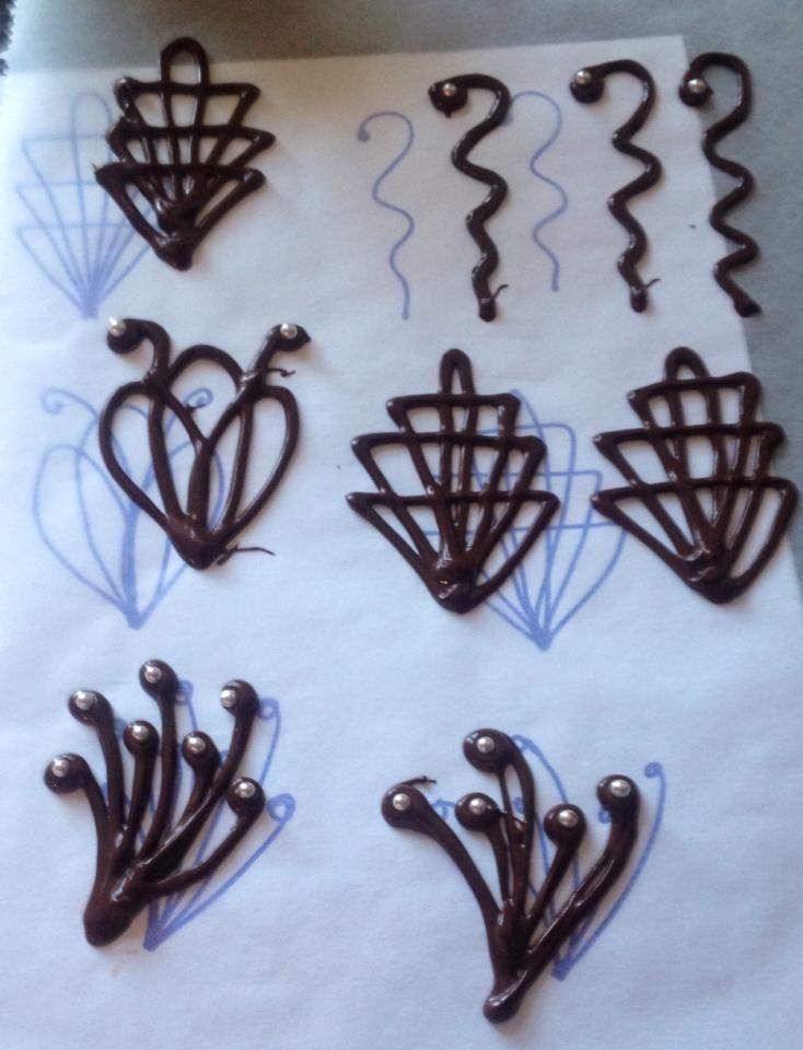 tiramisu adornos de chocolate - Buscar con Google