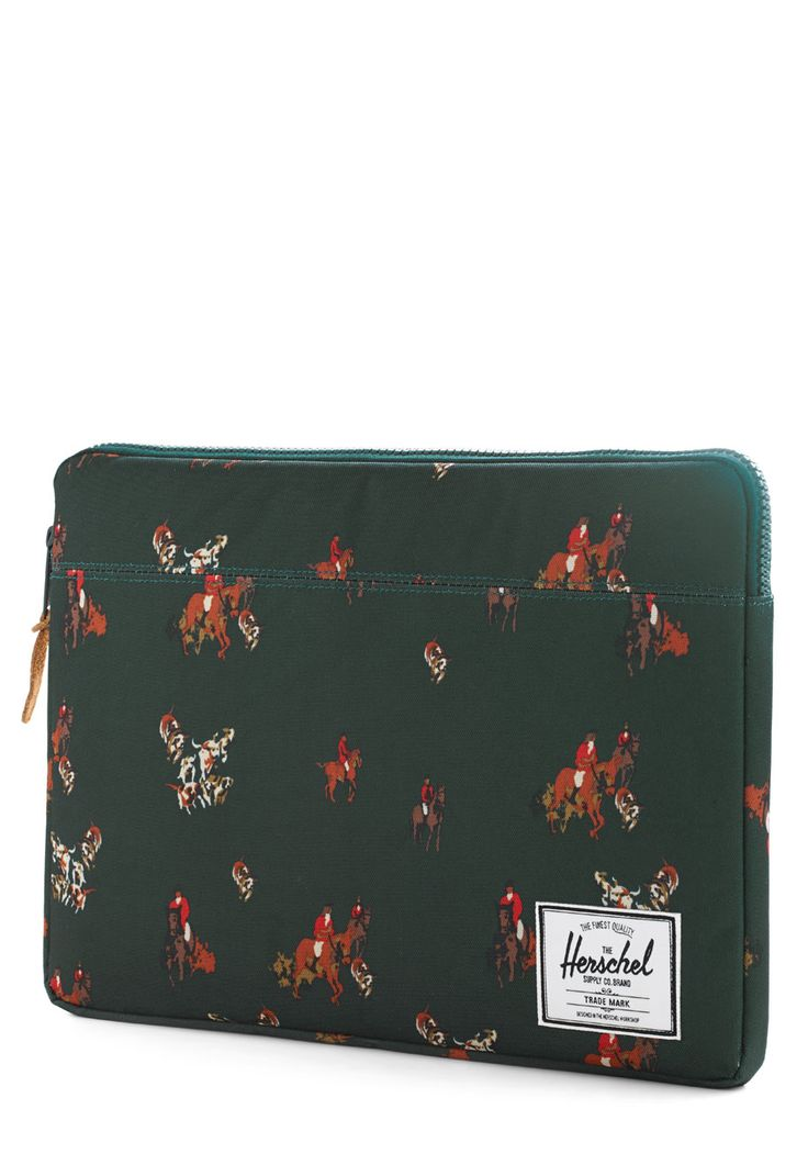 "Dressage for Success Laptop Sleeve - 15"". You'll feel set to ace your classes when you carry this rich teal laptop sleeve from Herschel Supply Co. #green #modcloth"