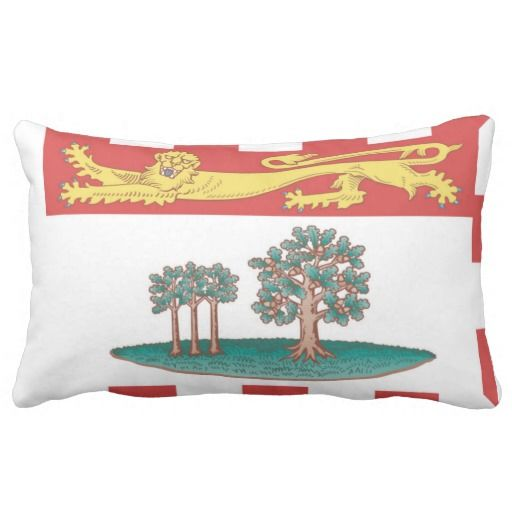 Provincial Flag Of #PrinceEdwardIsland Throw Pillow