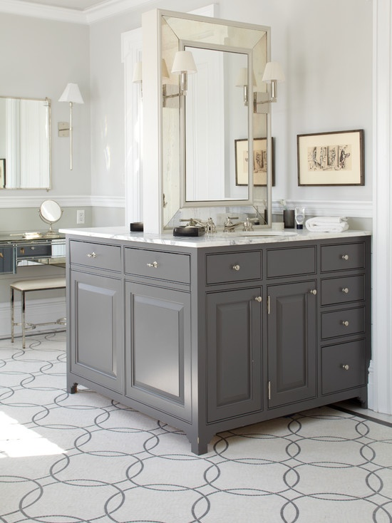 This is a fantastic shade of gray to paint a furniture for 7 x 9 kitchen cabinets