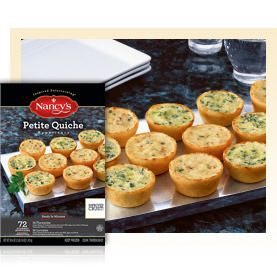 Petite Quiche - 72 ct. (Costco)  - Nancy's - Easy Appetizers, Easy Entrees and Easy Dessert