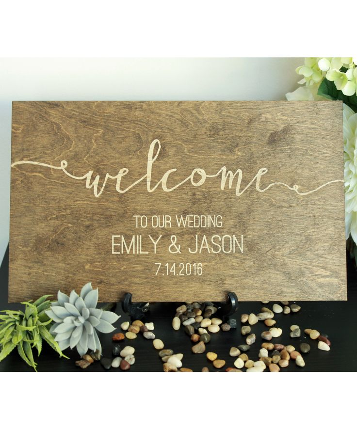 Welcome to Our Wedding Personalized Sign