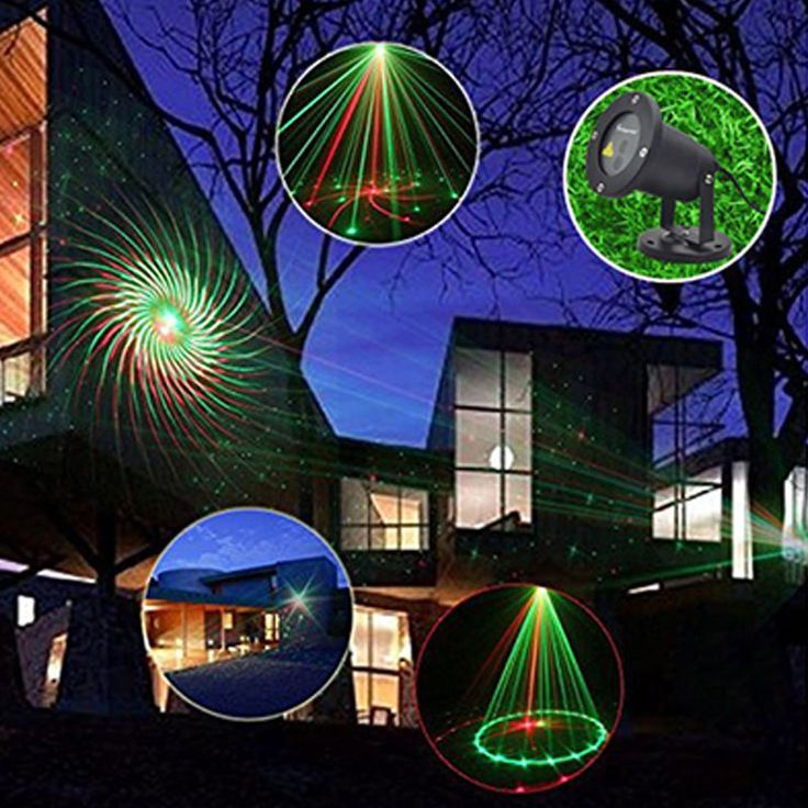 Outdoor Laser Christmas Lights Show Projector 64 Patterns Home Garden Lamp Move
