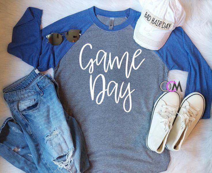 GAME DAY Shirt, Football Raglan, Game Day Baseball Raglan, Football Mom Shirt- Raglan