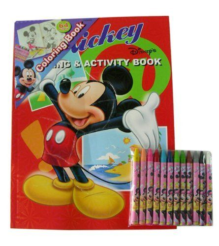 Mickey Mouse Coloring Book 12pc Crayons Set