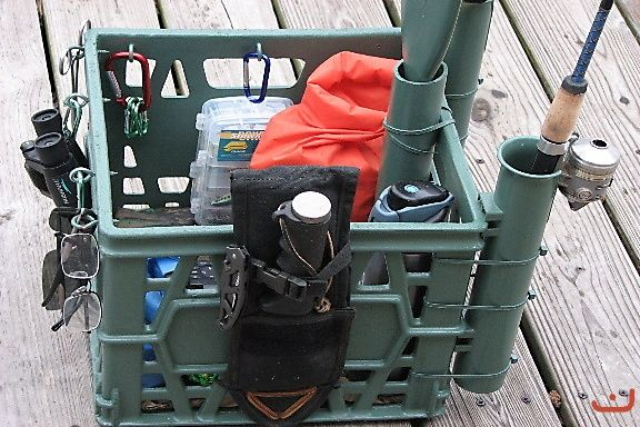kayak crates | Gallery - Category: Rigged Kayak Photos - Image: my kayak & crate