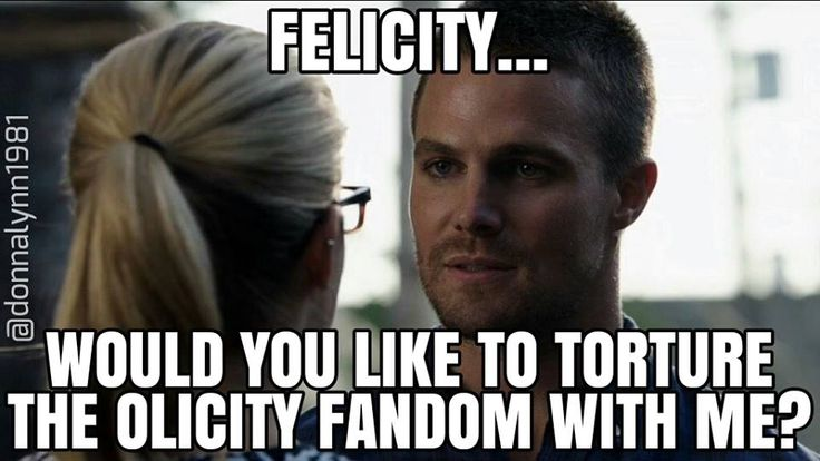 "The status of Olicity in Season 3. Thank you (and by ""thank you"", I mean ""I hate your evil guts for stringing me along/fooling me over and over again"") Arrow writers. 