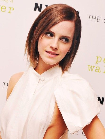 Emma Watson Short Layered Razor Hair Style for Women - repining for the hair, not side boob!