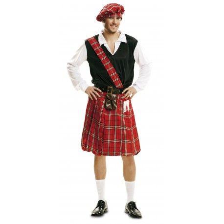 Disfraz de Escocés con bolso en la falda para Hombre