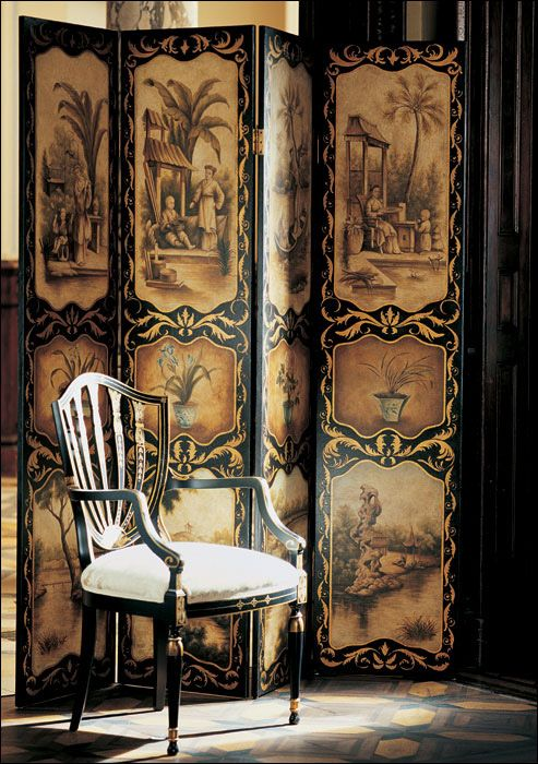 #excll #дизайнинтерьера #решения Самой главной фукнцией byobu была защита от ветра, но постепенно она вошла в интерьеры и стала важные декоративным элементом тех времени.