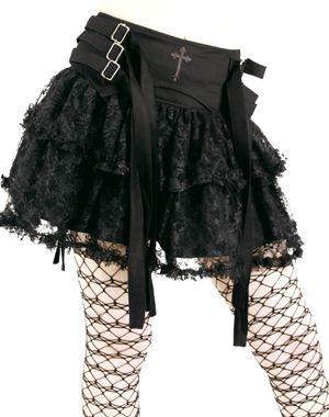 Aderlass Gothic Axle Mini Skirt
