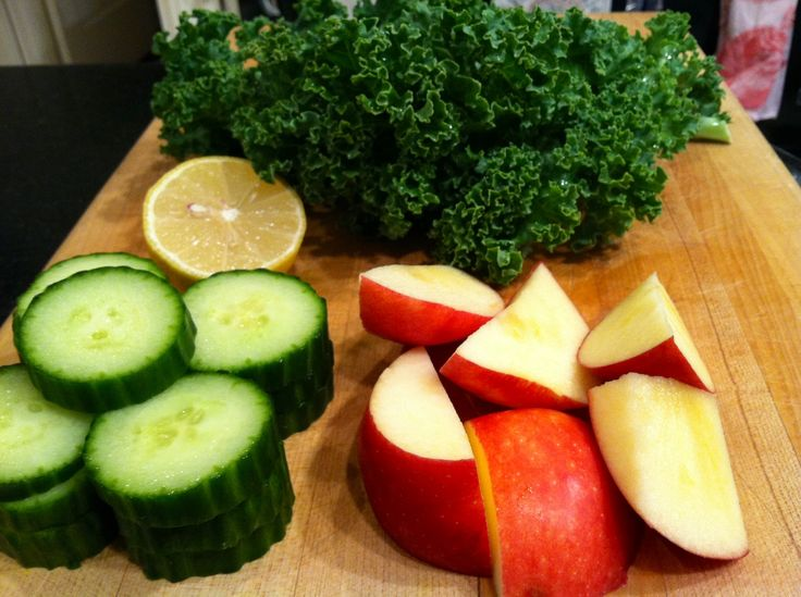 Ingredients for Apple Cucumber Kale Juice