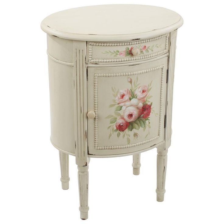 Beautiful #wooden cabinet #floral #romantic | www.inart.com