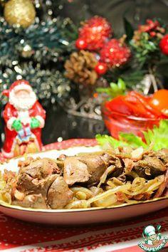 Ароматная куриная печень, запеченная в фольге - кулинарный рецепт