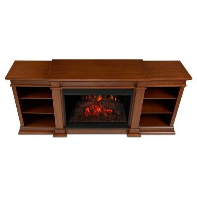 Eliot Grand Electric Fireplace Entertainment Center - Vintage Black Maple (Brown) - Real Flame