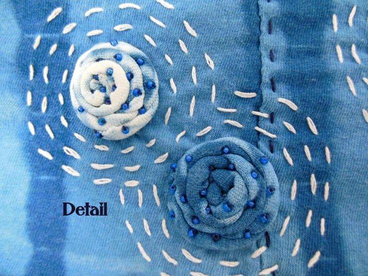 Alabama Chanin Style Rosette Skirt | Craftsy