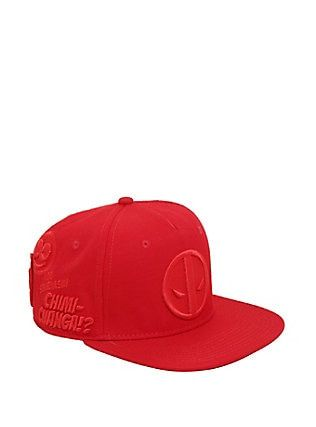 628fc107e0c8e Marvel Deadpool Red Embroidered Icons Snapback Hat
