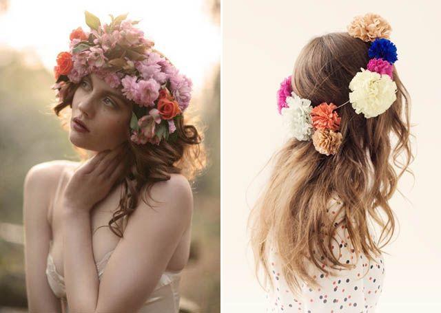 floral headpiece.