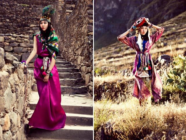 Peru is the location for this shoot // La Senorita Bello - editorial Vogue Korea
