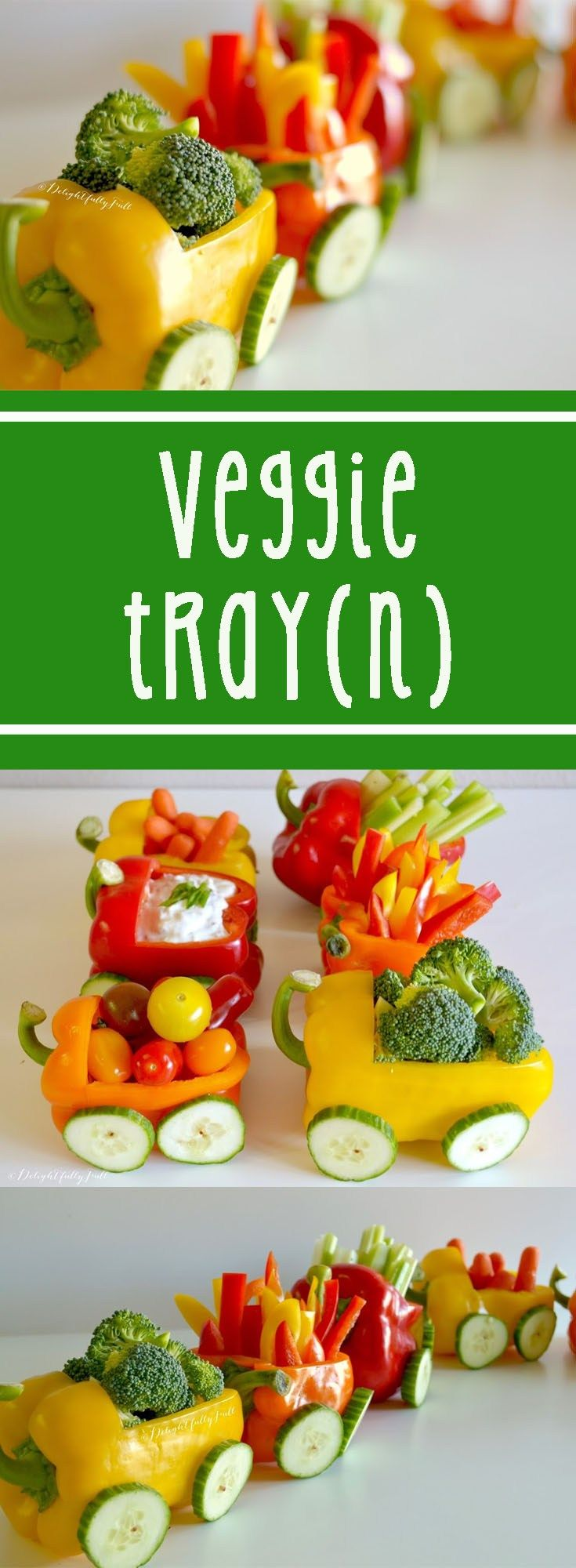 A veggie tray served up in the form of a train! Perfect for a baby shower, birthday, office party, orpretty much any event (including snack time at home). A veggie tray train…tray(n). G…