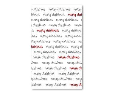 Transparente Fensterfolie Christmas Letters, 60 x 100 cm