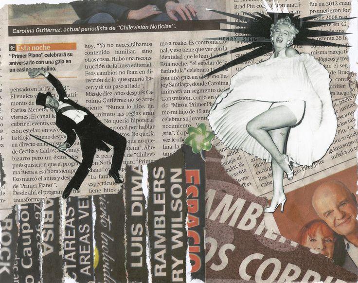 """Collage Ilustración #5 """"La Trizadura"""", por Eli Cárdenas."""