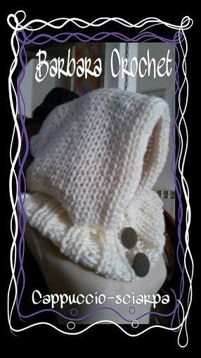 Cappello-sciarpa in lana - Hand Made
