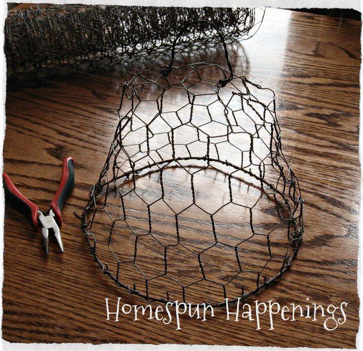 Homespun Happenings: Chicken Wire Cloche