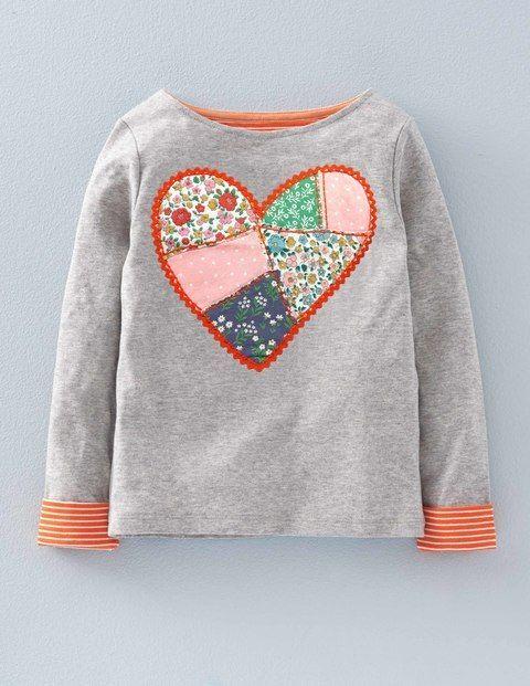 Patchwork Appliqué T-shirt 31985 Graphic T-Shirts at Boden