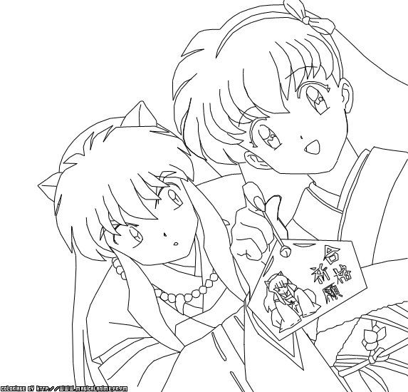 42 best images about inuyasha coloring on Pinterest  Free
