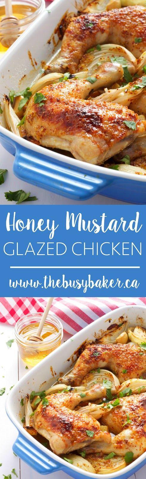 Honey Mustard Glazed Chicken www.thebusybaker.ca