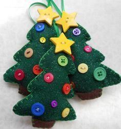 Christmas tree felt. Árvore de Natal feltro.