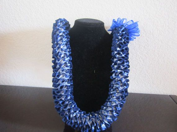 Plumeria Hawaiian Satin Ribbon Lei