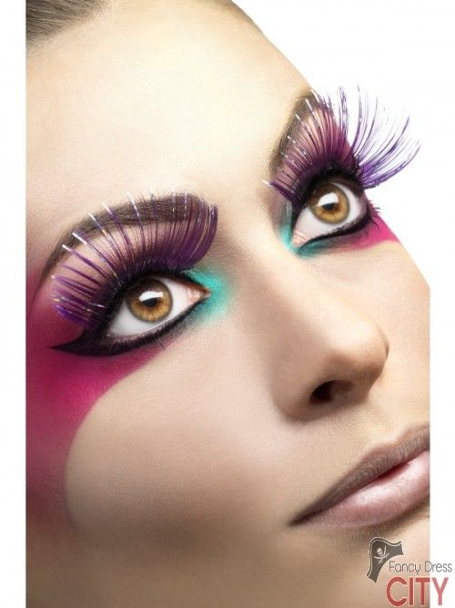 Eyelashes, Large Purple with Metallic Strips
