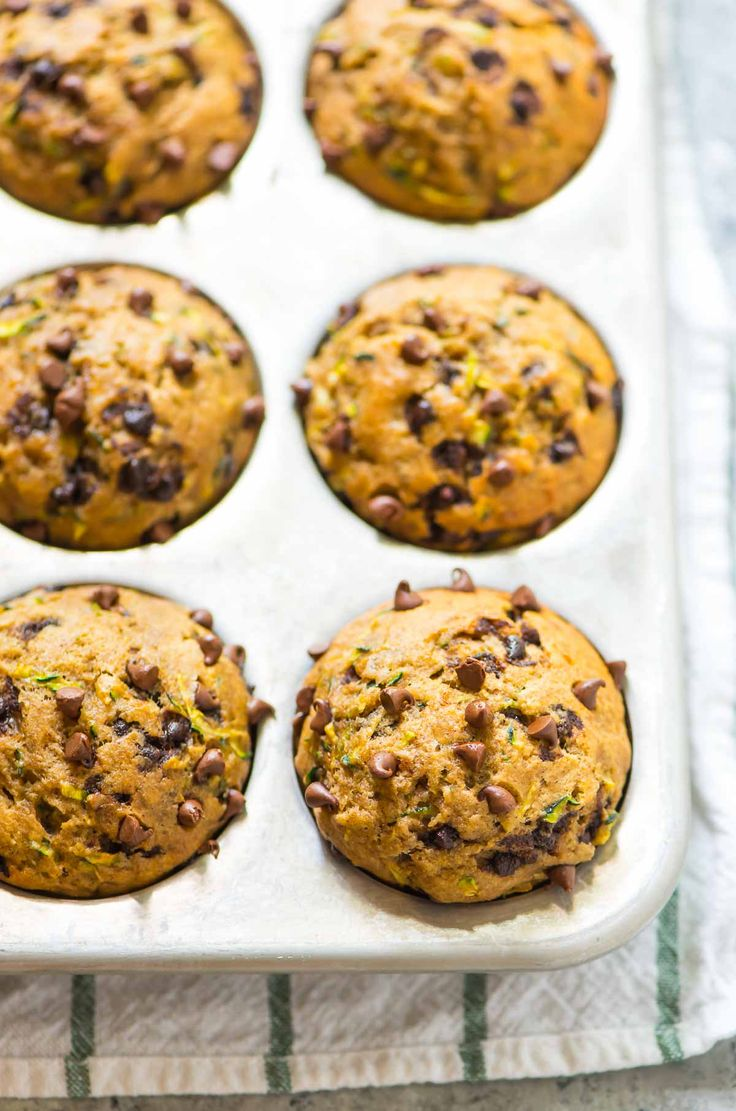 Healthy Zucchini Muffins—naturally sweetened with honey and banana and absolutely delicious! Low in fat, whole wheat, and kids love them too. @wellplated