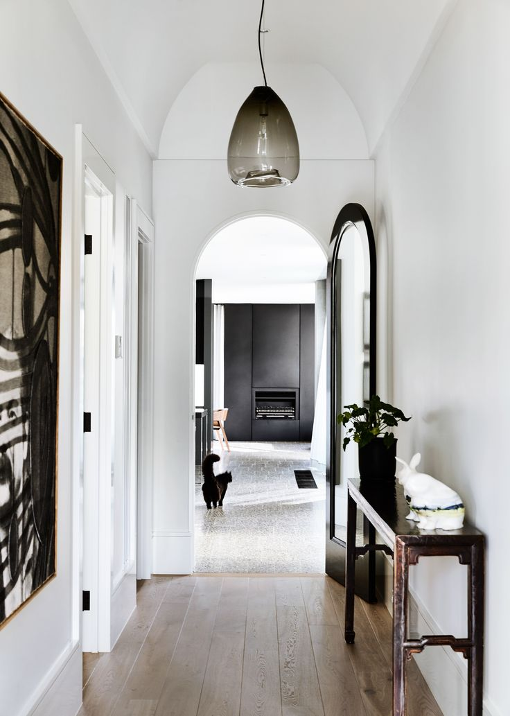 Hallway from Victorian home renovation by B.E Architecture. Photography: Derek Swalwell | Styling: Julia Green | Story: Australian House & Garden