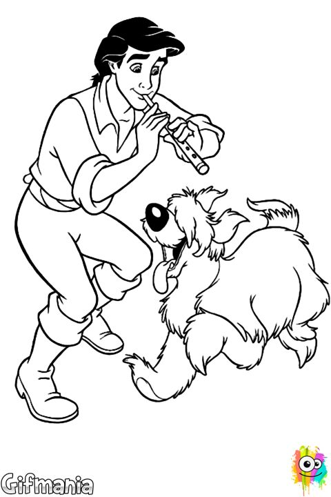 Eric And Max Coloring Page