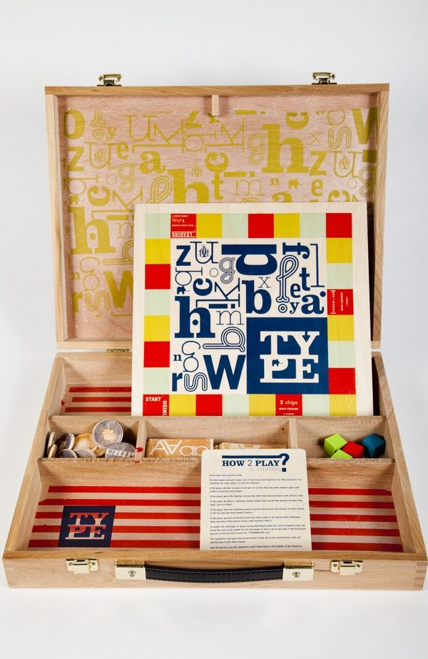 { TYPE } designers dream board game by Reneé Nichelle , via Behance