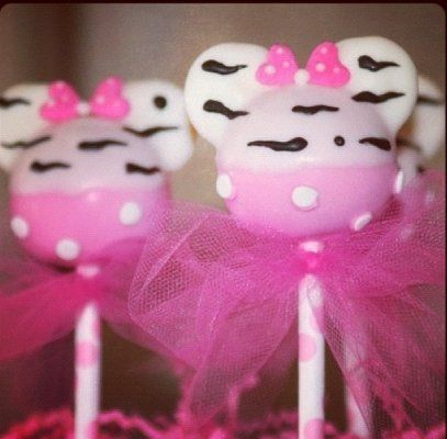 minnie mouse cake pops they are kind of small but we could make alot of them or at. Black Bedroom Furniture Sets. Home Design Ideas