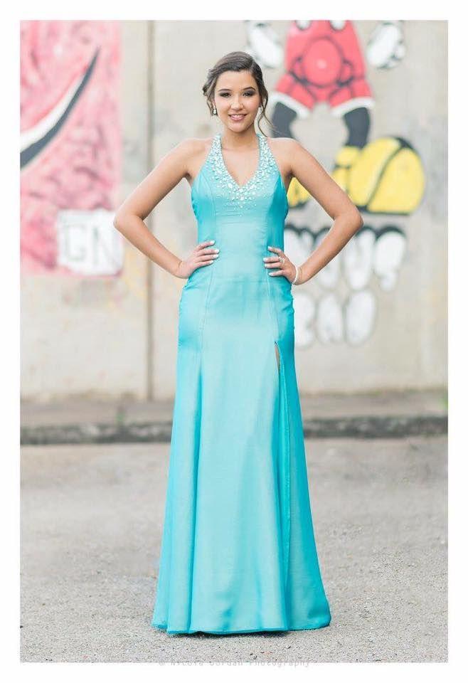 Halter neck Prom dress with crystal embellished neckline #IngeCoetzerDesignerStudio