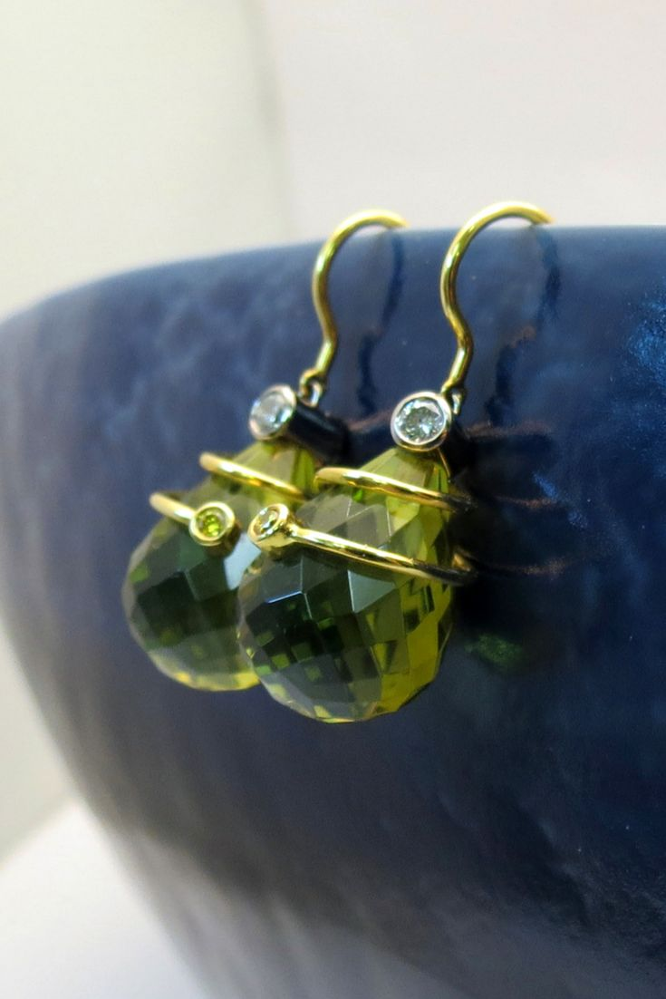 These custom made earrings are rich with color.