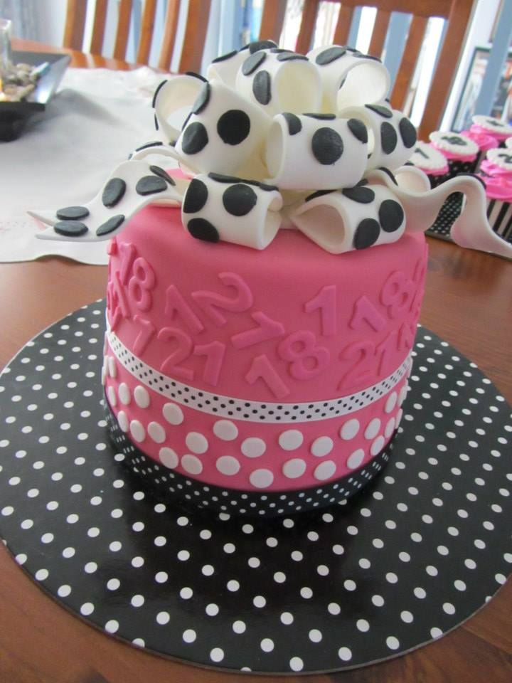 Bows & Number cake