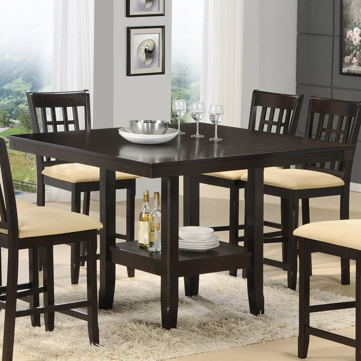 Hillsdale Tabacon Counter Height Gathering Table With Wine Storage Rack