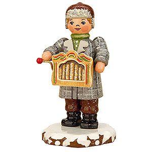 Winterkinder Drehorgelspieler (7,5cm) von Hubrig Volkskunst