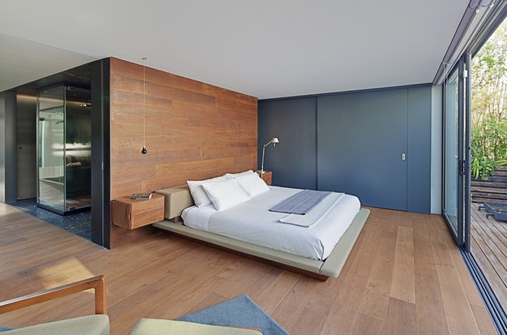 Timber Floor To Bedhead Wall Great Idea Architecture