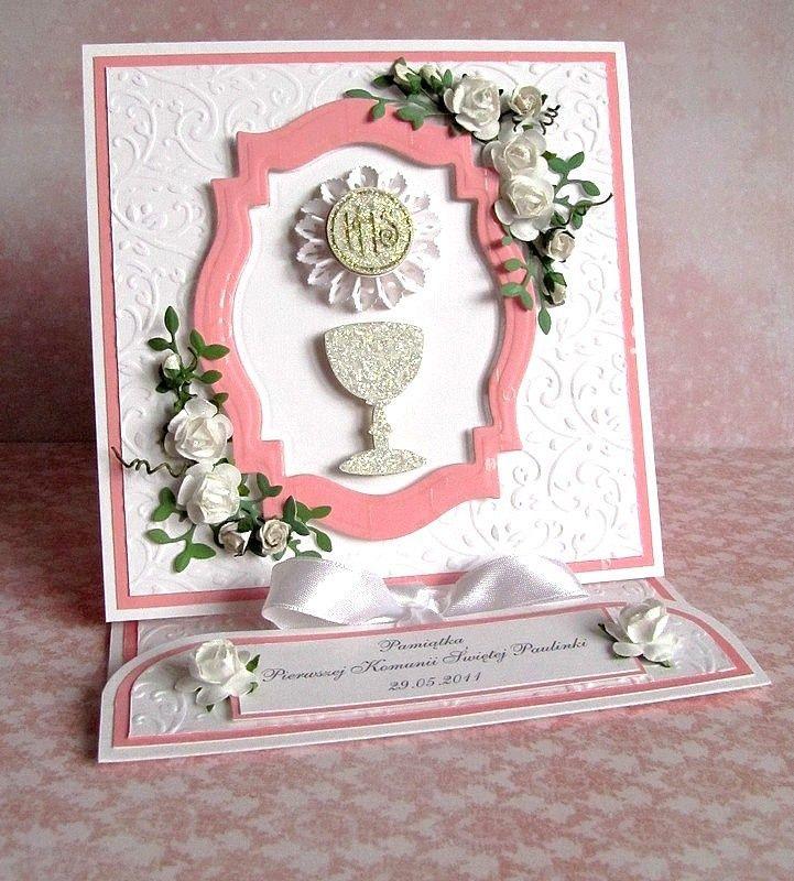 paper craft communion cards | land of my paper: First Communion Souvenir ...